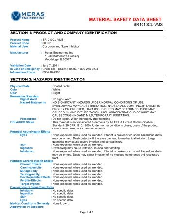 Nalco msds sheets - Thepix info