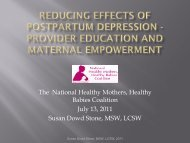 Download PDF of slides from the webinar - National Healthy ...
