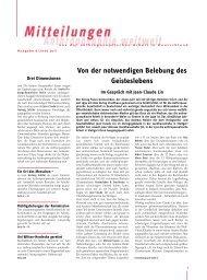 Mitteilungen Juli 07 - Anthroposophische Gesellschaft in Deutschland