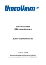 VideoVahti V900 GSM-valvontakamera - WebHill.fi -Verkkokauppa