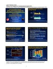 Evolving Insulin Therapy - Dr Beaser.pdf - Joslin Diabetes Center