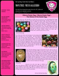 April - The San Diego North Park Craft Mafia!!