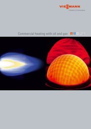 Commercial heating with oil and gas - Viessmann