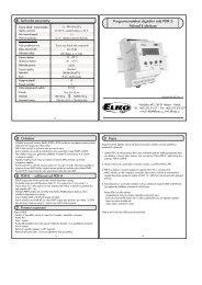 Programovatelné digitální relé PDR-3 Návod k obsluze - ELKO EP, sro
