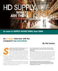 By Pat Lenius An in-depth interview with the company's ... - HD Supply