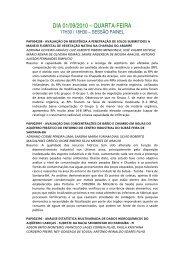 DIA 01/09/2010 – QUARTA-FEIRA - ABAS