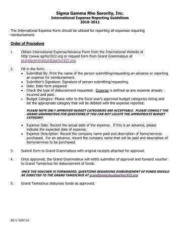 International Expense Reimbursement Form - Sigma Gamma Rho ...