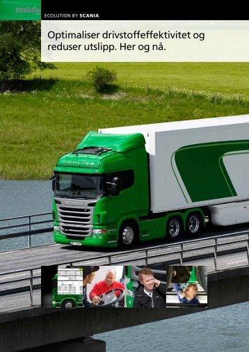 Ecolution: Optimaliser drivstoffeffektivitet og reduser utslipp - Scania