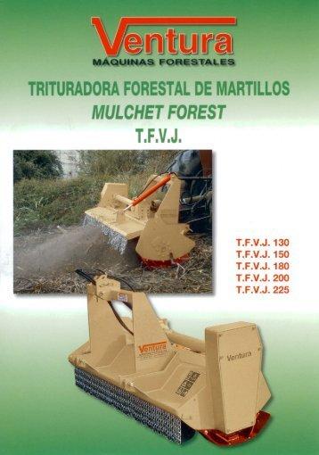 trituradora forestal de artillos mulchet forest tfvj