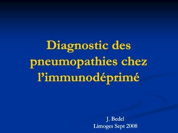 Diagnostic, en réanimation, des pneumopathies chez l ...