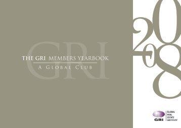 THE GRI MEMBERS YEARBOOK - Global Real Estate Institute