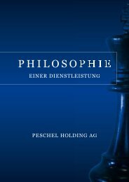 Download this publication as PDF - Peschel Holding AG