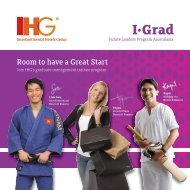 Join IHG's graduate management trainee program