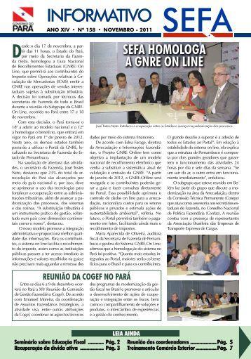 Informativo nº 158 - Novembro - Sefa - Governo do Estado do Pará