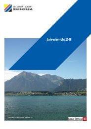 Jahresbericht 2008 - Volkswirtschaft Berner Oberland