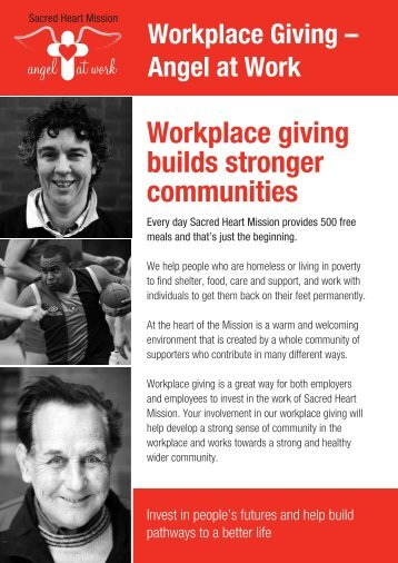 Workplace giving builds stronger communities - Sacred Heart Mission