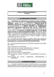EDITAL DE PREGÃO PRESENCIAL Nº 02/2012 - Fiesc