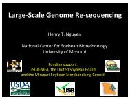 Large-‐Scale Genome Re-‐sequencing - SoyBase