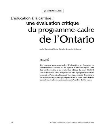 La recherche en éducation en milieu minoritaire Francophone