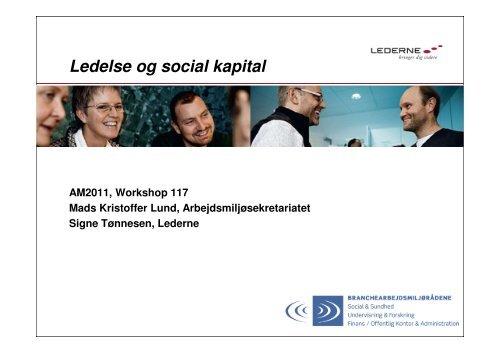 Ledelse og social kapital