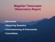 Associate director's report - MagellanTech