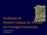 Avaliação de modelos globais de terreno em Portugal continental