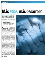 Más ética, más desarrollo - Revista Perspectiva