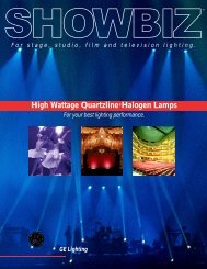 High Wattage Quartzline®Halogen Lamps - StageLightingStore.com