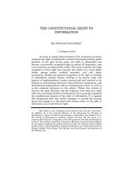the constitutional right to information - Columbia Law School