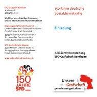 Jubiläumsveranstaltung 150 Jahre SPD in der Grafschaft Bentheim
