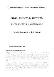Regolamento d'Istituto - Convitto Nazionale Vittorio Emanuele II