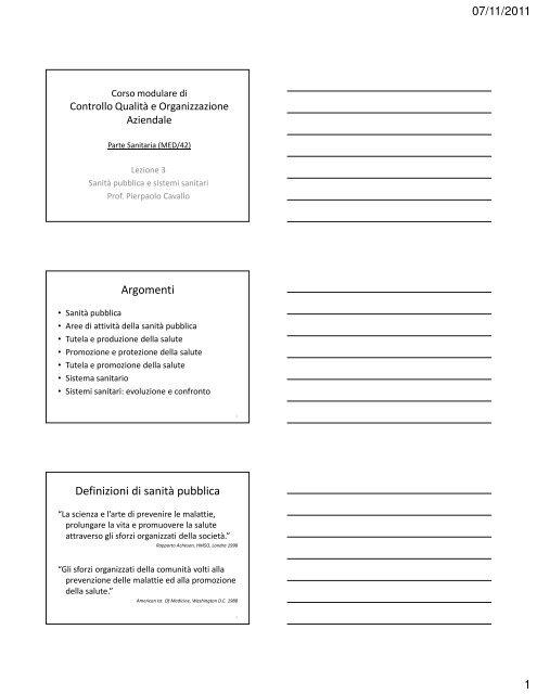 Microsoft Powerpoint Slides Biol Spec Lez 3 Sanit 340 Pubblica E
