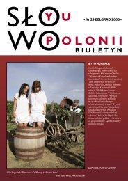 • Nr 29 BELGRAD 2006 • - Polonia-serbia.org