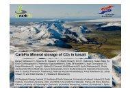 CarbFix Mineral storage of CO2 in basalt - CO2Geonet