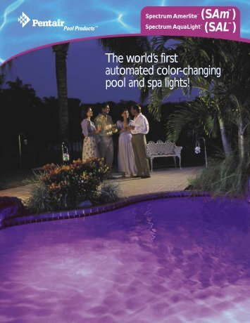 The world's first automated color-changing pool and spa lights! The ...