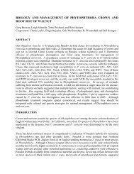 biology and management of phytophthora crown and root rot of walnut