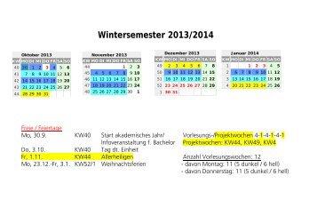 Stundenplan SoSe 2013