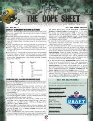 Packers 2011 Draft Preview Dope Sheet.indd - NFL.com