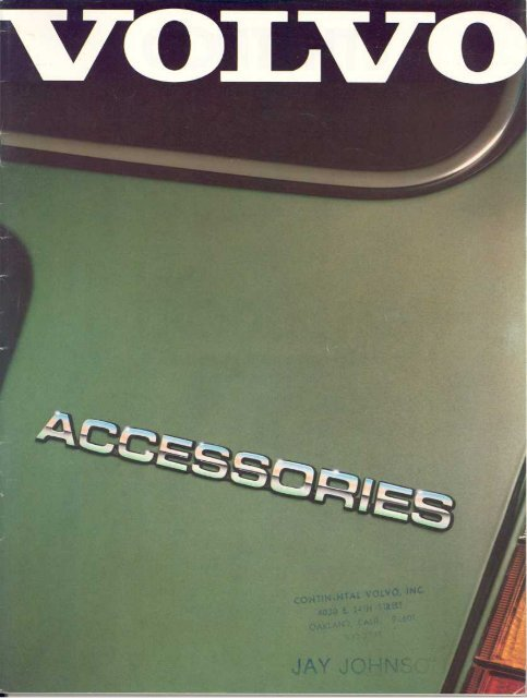 Genuine Volvo Accessories… More Of What You Can - Volvo244.pl