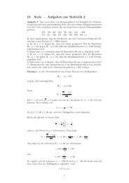 10 Serie — Aufgaben zur Statistik 2