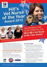 Hill's Vet Nurse of the Year - Australian Veterinary Association