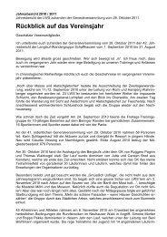 Jahresbericht 2010-2011 - LWS Langlaufwandergruppe Schaffhausen