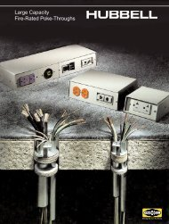 Large Capacity Fire-Rated Poke-Throughs - Hubbell Wiring Device ...