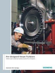 Pre-designed Steam Turbines - Siemens