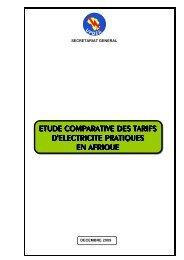 etude comparative des tarifs d'electricite pratiques en afriqu ee