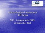 Presentation Jeff Lucas - ALPS CETL