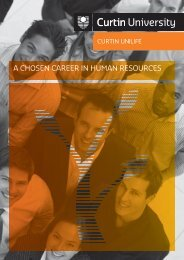 a chosen career in human resources - Unilife - Curtin University