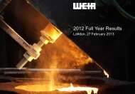 Preliminary Results 2012 - The Weir Group