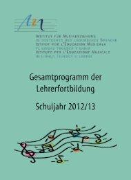 Gesamtprogramm der Lehrerfortbildung - Institut für Musikerziehung ...