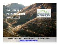 WELLGREEN PRESENTATION APRIL 2012 - gowebcasting